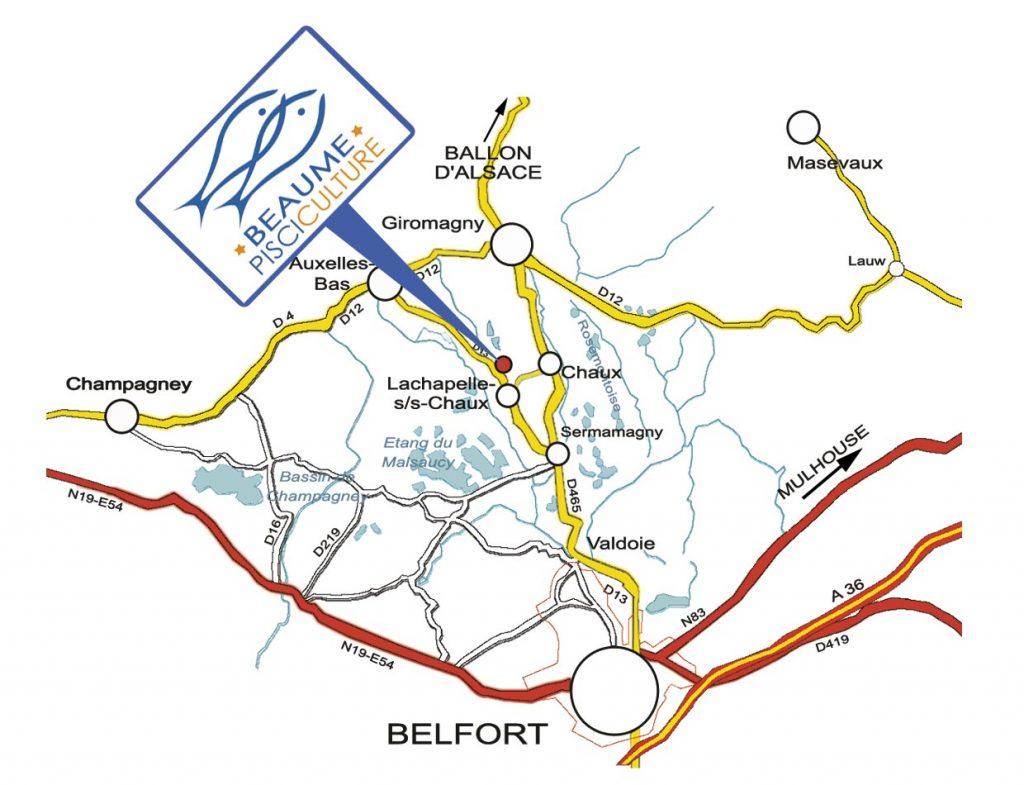plan pisciculture Beaume